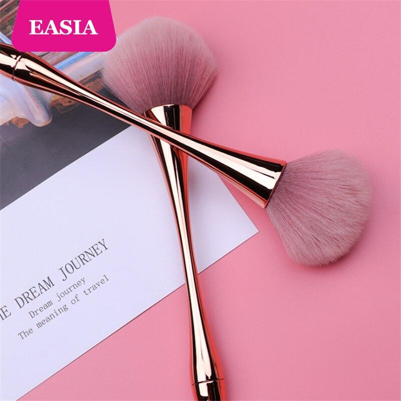 Rosegold Powder Makeup Brush Dense Soft Big Blush Brush for Loose Compact Powder Make up Fan Brush with Box 5