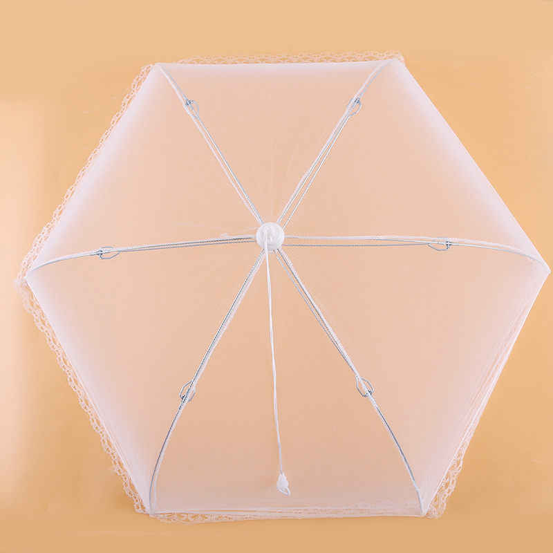 Mesh Food Cover Dish Umbrella Collapsible Protector Tent Keep Out Flies Bugs Kitchen Tool Detachable Dish Folding Cover