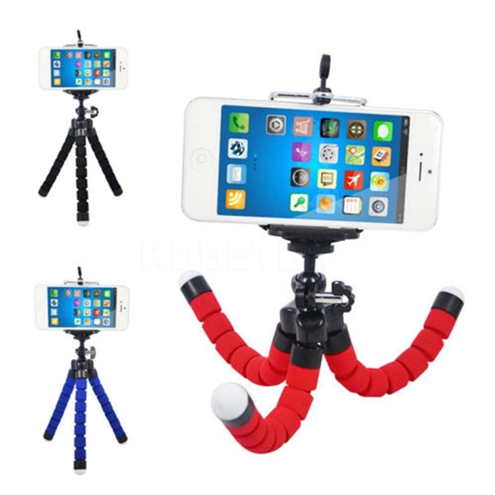 FGHGF Tripod Clip Stand Mobile Phone Holder Flexible Octopus Sponge Bracket Mini For Camera