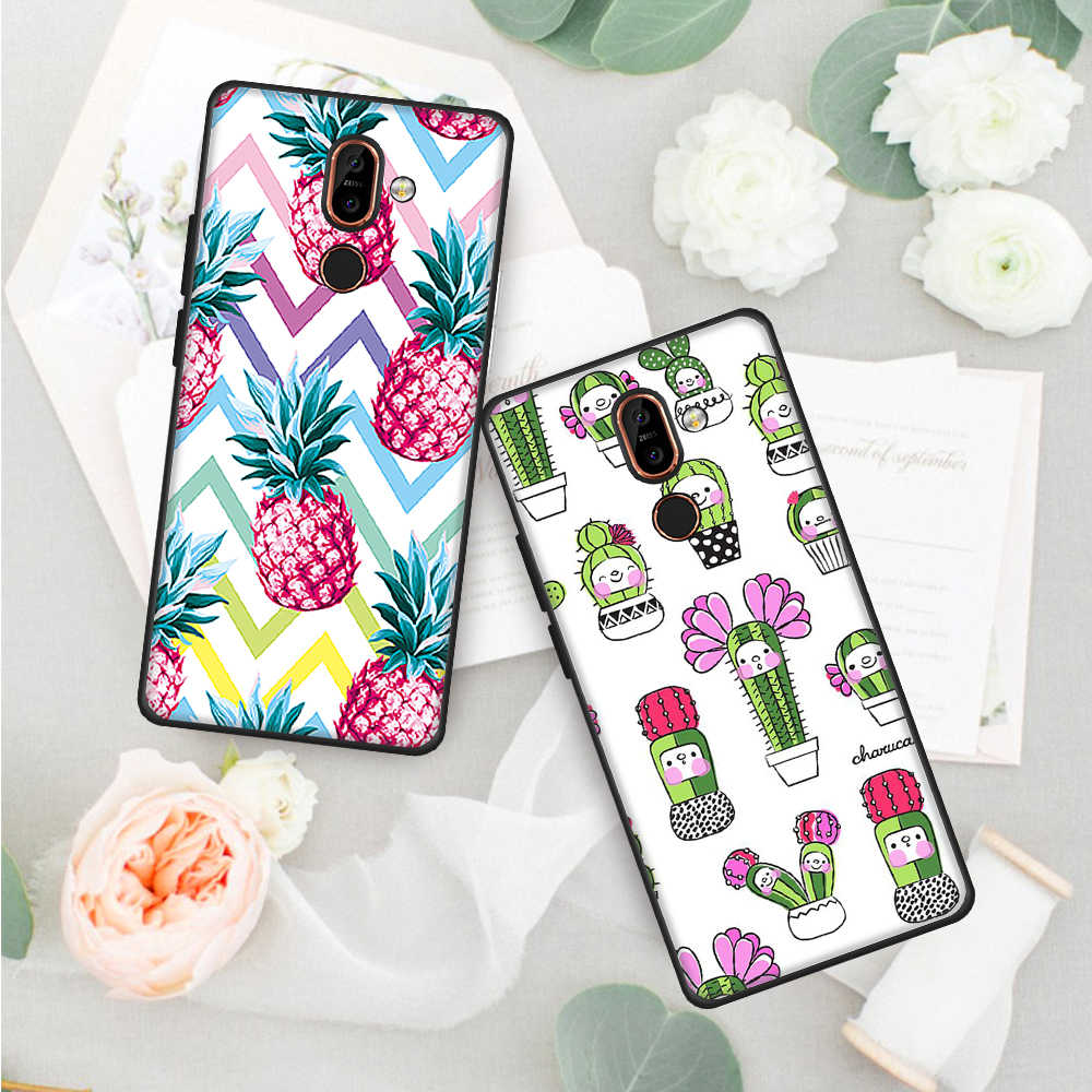 For Nokia 3 6 2018 7 Plus 8 Painted Cover Case For Nokia 3 2018 Silicone Soft TPU Phone Case Protective Back Cover Capa Shell