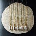 WT-N493 Cowrie shell Colar de Ouro Da Moda Jóias natural cowrie shell presente minúsculo pingente de colar banhado a ouro