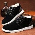 Горячие мужские Зимние Ботинки Обувь Мужчины Теплый Снег Сапоги Мужчин Обувь Меха Плюшевые Ботильоны Черный Chaussure Homme