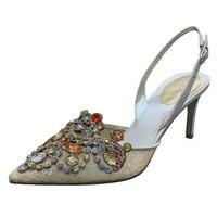 Мода красочные блеск каблуки для дам на каблуке 7 см змеиная кожа Пряжка обувь для вечеринок