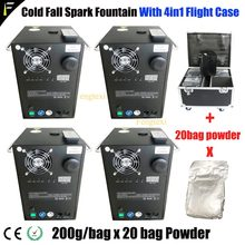 (4in1 FlightCase Packing)Sparkular Cold Spark Stream Fountain Sparklers Include Free 20Bags Spark Fountain Ti Metal Powder(China)