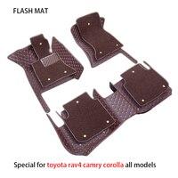 Special car floor mats for toyota rav4 camry verso corolla land cruiser aygo wish vitz fortuner yaris car accessories car mats