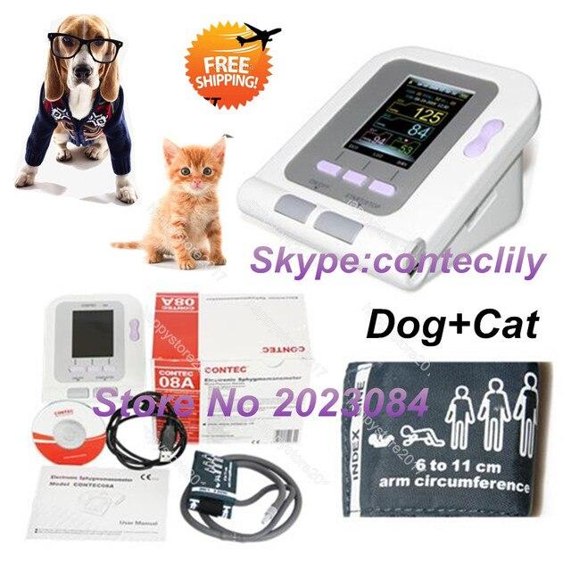 Vet Veterinary OLED digital Blood Pressure & Heart Beat Monitor NIBP CONTEC08A-VET China&USA warehouse 1
