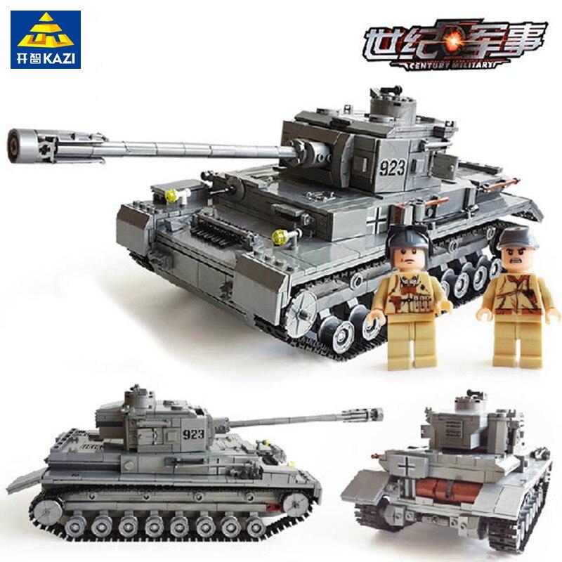 1193 stücke LegoING Military WW2 Große Panzer IV Tank Bausteine Sets Armee Waffe Soldaten Modell Bricks Spielzeug für Kinder