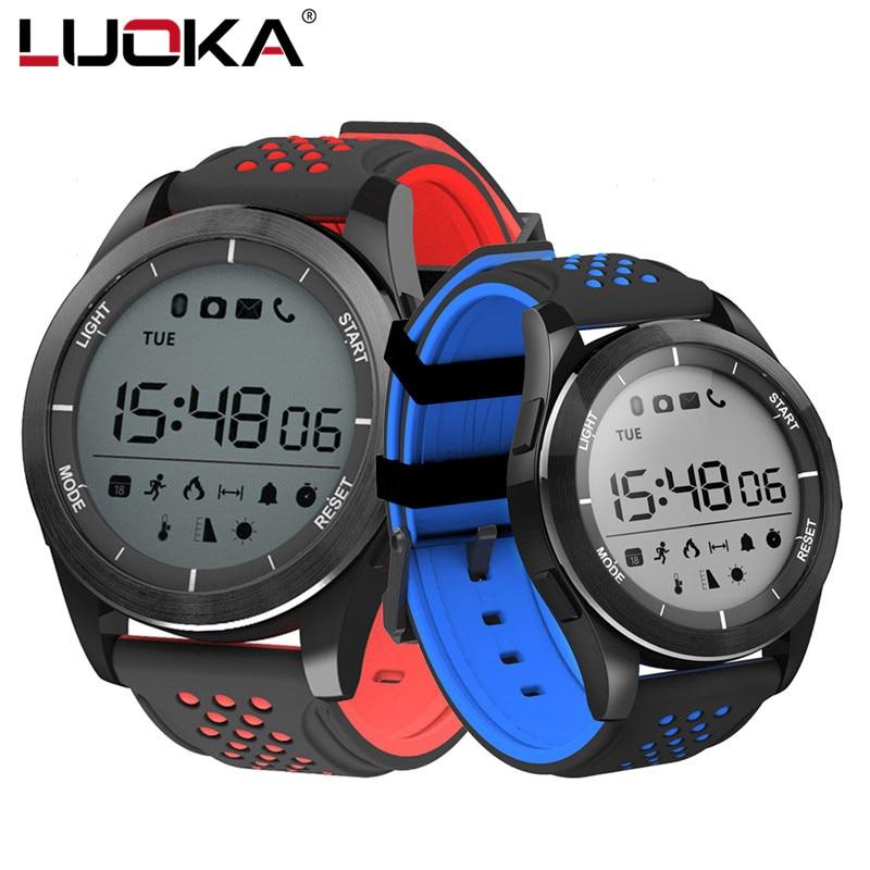 LUOKA F3 Bluetooth Intelligenti Orologi per Gli Uomini Impermeabile Contapassi Fitness Tracker Smartwatch con Telecomando Della Macchina Fotografica per Android IOS