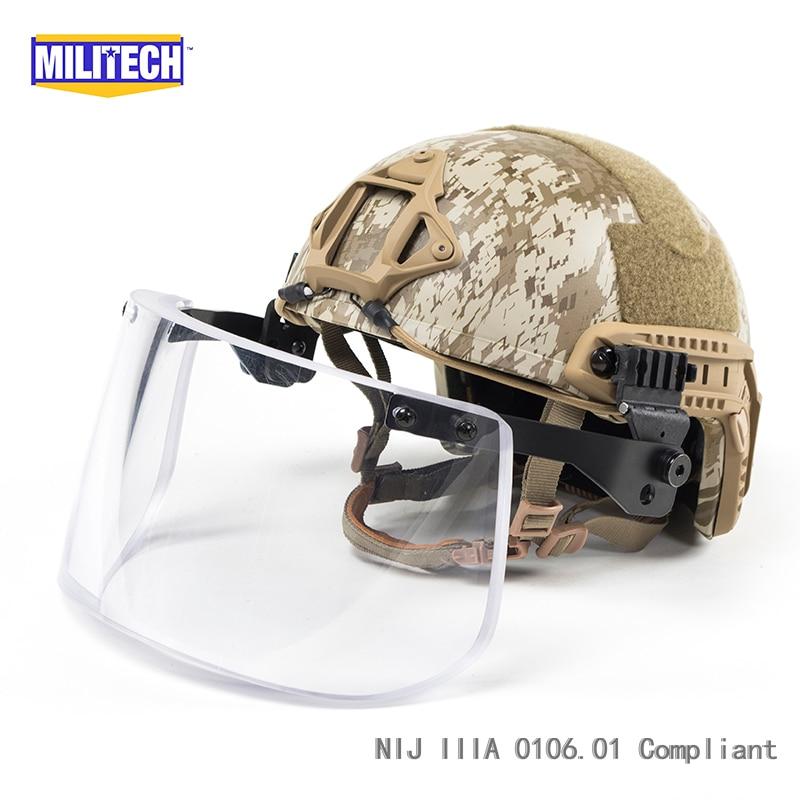 Arbeitsplatz Sicherheit Liefert Energisch Militech Aor1 Deluxe Nij Iiia Schnelle Kugelsichere Helm Und Visier Set Deal Wüste Digital Camo Ballistischen Helm Kugelsichere Maske