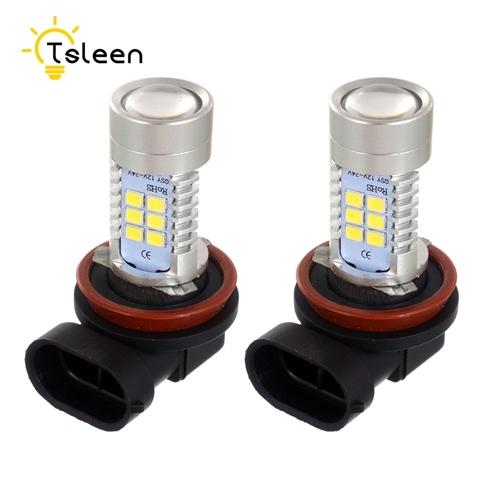 Cheap 2pcs/lot H8 H11 Car Taxi LED Bulbs 800LM 12-24V Instant Start Fog Light Safe DRL Driving Lamps White 6000K novsight h11 h8 h9 auto car led headlights 60w 10000lm driving fog light 6000k white fog lamps bulbs
