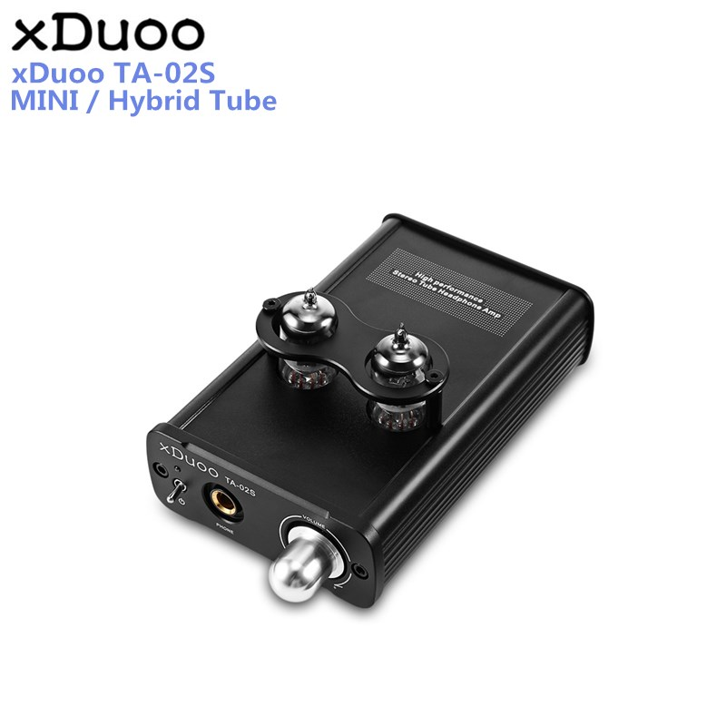 XDUOO TA-02S High Performance Stereo Tube Headphone Amplifier Hybrid Tube ( Dual Tube AMP and Class A BUF ) original xduoo ta 20 high performance balanced tube headphone amplifier power amplifier