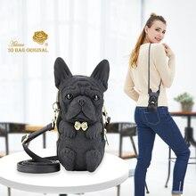Adamo, 3D сумка,, французский бульдог, слинг, сумка, высокое качество, женская сумка на плечо, роскошный бренд, модные женские сумки
