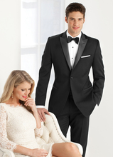 2018 Black with satin lapel tuxedos Men's classic suit for wedding grooms men suit marriage business party slim fit jacket pants