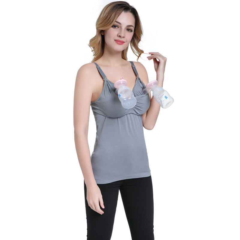 new authentic hand-free bilateral breast pump bra size can be adjusted feeding bras nursing bra tank top  Vest
