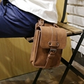New Brand Men Crazy horse PU Leather Small Waist Pack Mobile Phone Case Travel Bags Small Men's Belt Bag Vintage Brown XP5641
