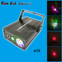 16pcs/lot Mini 2in1 Whirlwind R G Laser snowflake LED Projector Stage Disco DJ Club KTV