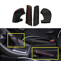 For Hyundai Elantra 2012 2013 2014 2015 AT Or MT  Handbrake Cover And Gear Shift Cover PU Leather Car Inner Accessories 2pcs