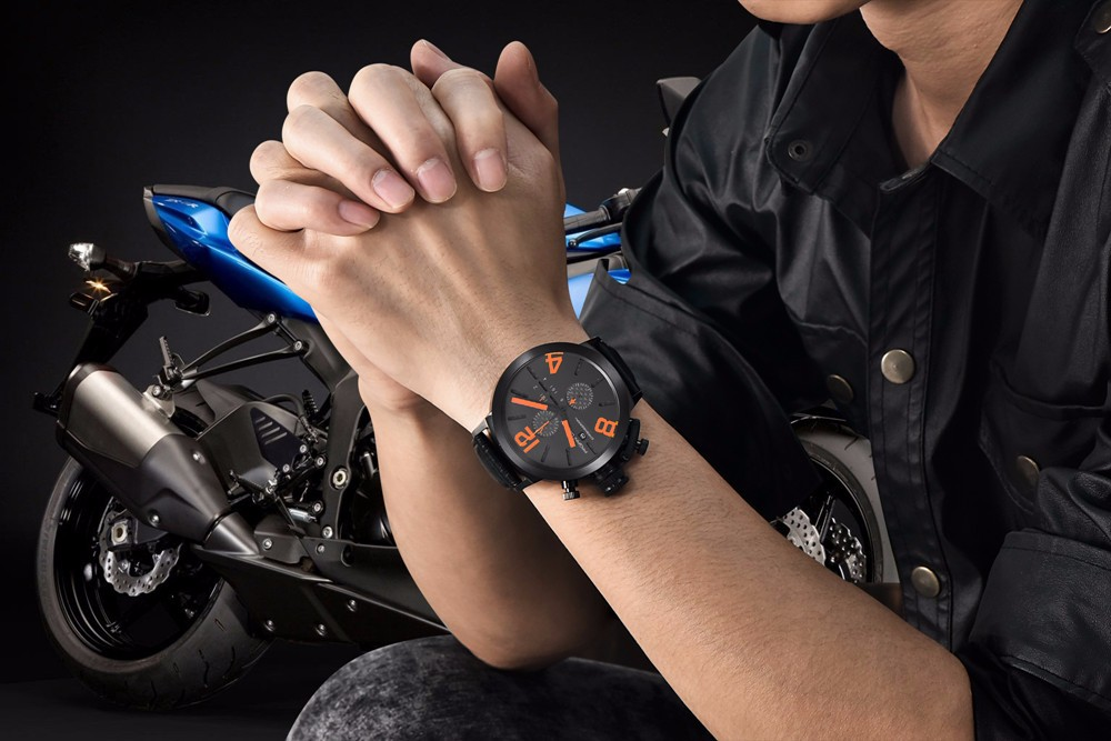 tienda online pagano del cuarzo del diseo nico militar deportes relojes hombres regalos innovadores de cuero genuino relojes relogio