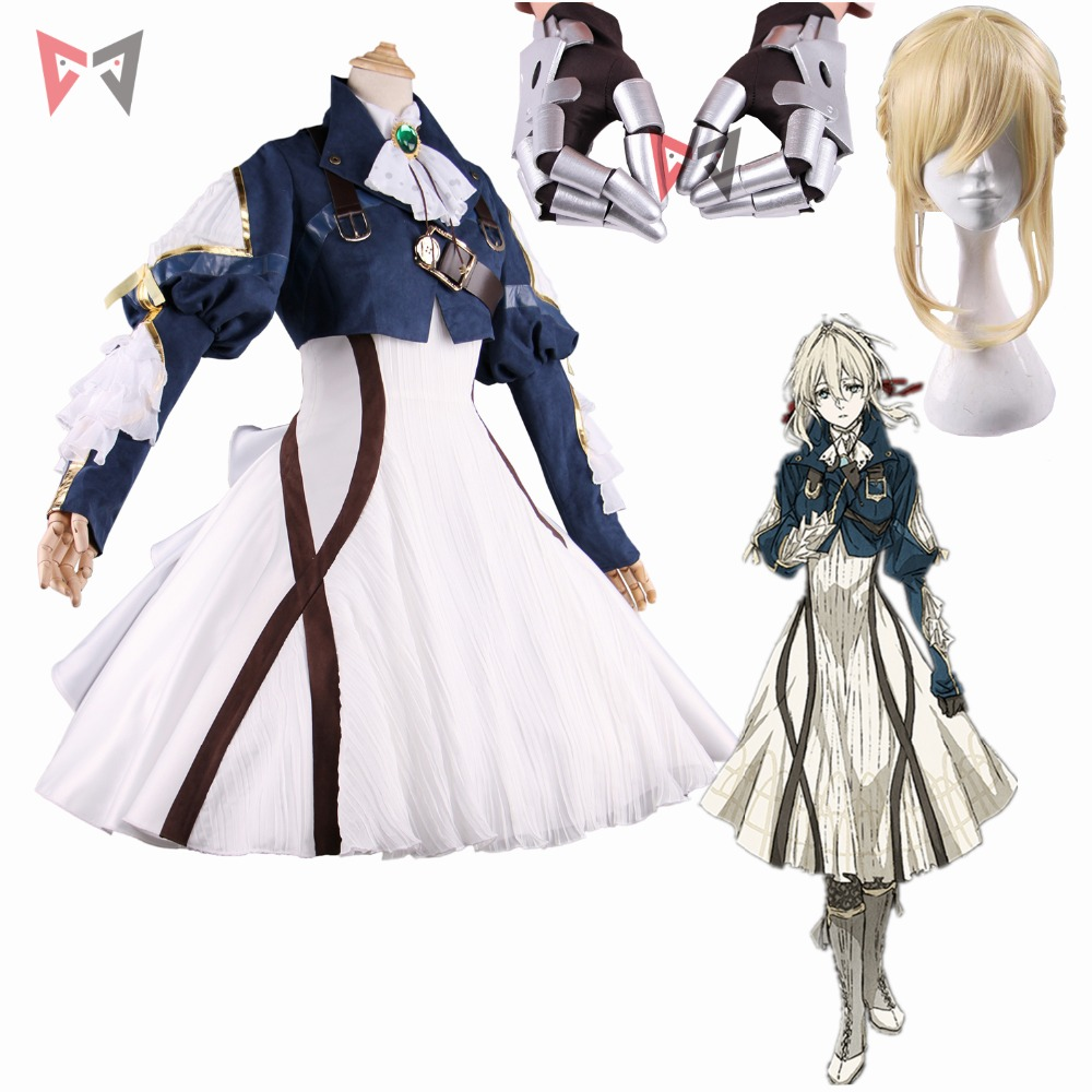 New anime Violet Evergarden cosplay costume Violet Gothic Uniforms Cosplay dress for girl women fancy clothes Free Shipping