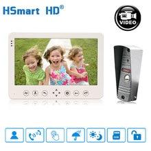 цена на 7 inch Video Doorphone Touch Button IP65 Waterproof IR Visual Doorbell Motion Detection SD card Video Record Intercom System