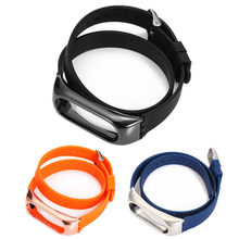 Wristband For Xiaomi Mi Band 2 Replacement Strap 43cm Silicon Solid Color Wristband drop shipping 0725(China)