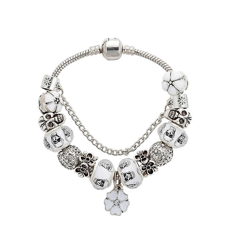 Aliexpress Hot Sale Cute white Silver Charm pandora Bracelet for ...