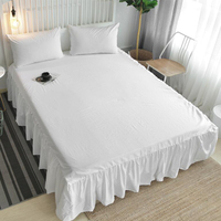 Ruffled Bed Skirt only Full, White