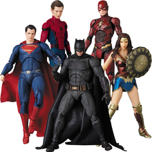 Justice League Mafex Aquaman 061 Batman 056 Flash Wonder Woman 048 Superman