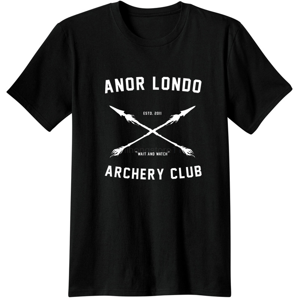 Anor <font><b>Londo</b></font> ARCHERY CLUB Men Adult Tees T-Shirts Video Game Gaming T Shirts Dark Souls Casual Apparel Fashion short sleeve Tops image