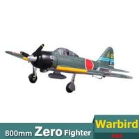 FMS 800MM Mini Warbird Zero A6M3 Fight V2 RC Airplane PNP Duralble EPO Foam Warbird Model Plane Aircraft Avion Cheap Small 1