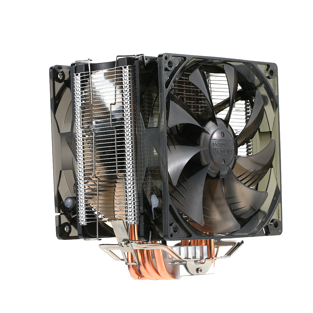 PCCOOLER 5 Heatpipes Radiator Quiet 4pin CPU Cooler Heatsink Fan Cooling with Dual 120mm LED Fans for Desktop Computer pccooler cpu cooler 4 copper heatpipes 4pin 100mm pwm quiet fan for amd intel 775 115x computer pc cpu cooling radiator fan