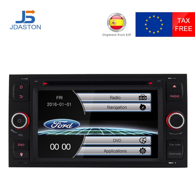 JDASTON 2 Din 7 дюймов dvd плеер автомобиля для Ford Mondeo Focus Transit C MAX S MAX Fiesta радио мультимедиа gps навигации FM AM USB