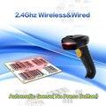 Eyoyo 8150AT Auto Sense(No Press Button) 2.4G High Speed Wireless Laser USB Barcode Scanner Scan Label Reader Up to 10M Range