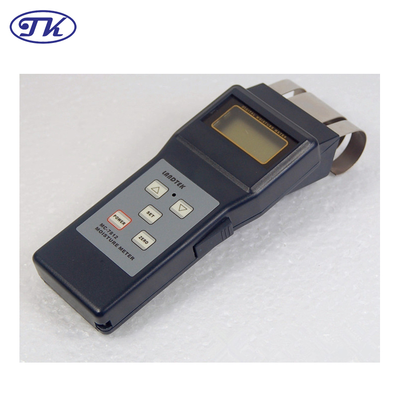Electromagnetic Induction Portable Wood Moisture Meter MC7812 mc 7806 digital moisture analyzer price with pin type cotton paper building tobacco moisture meter