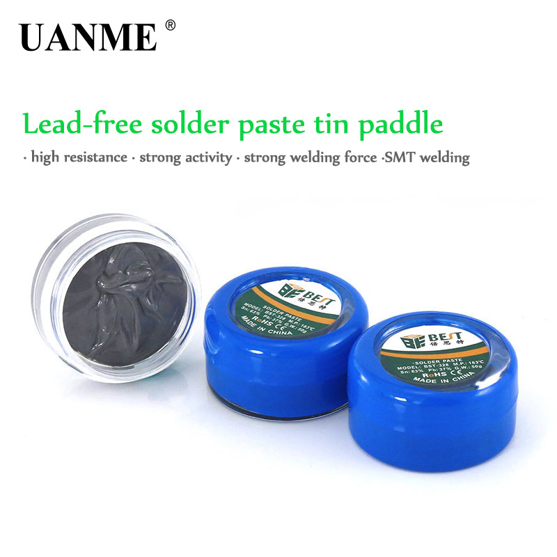 BEST Solder Paste 50g Strong Lead containing Lead Free Silver Soldering Flux PCB BGA SMD Mobile Phones repair Welding in Welding Fluxes from Tools