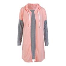 NEW font b Women b font ladies autumn Hooded coat casual long sleeve zip up contrast