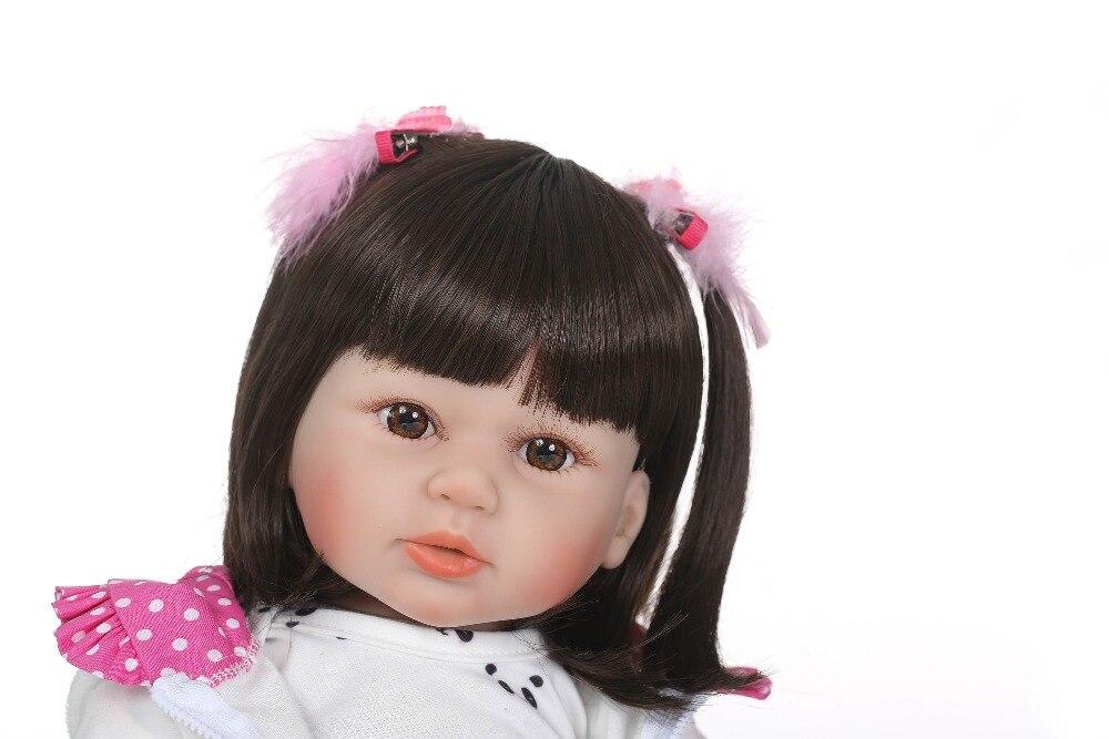NPKCOLLECTION miękkie silikonowe Reborn lalki Baby realistyczne lalki Reborn 22 Cal silikonowe winylu Boneca BeBes Reborn lalki dla dziewczynek w Lalki od Zabawki i hobby na  Grupa 3