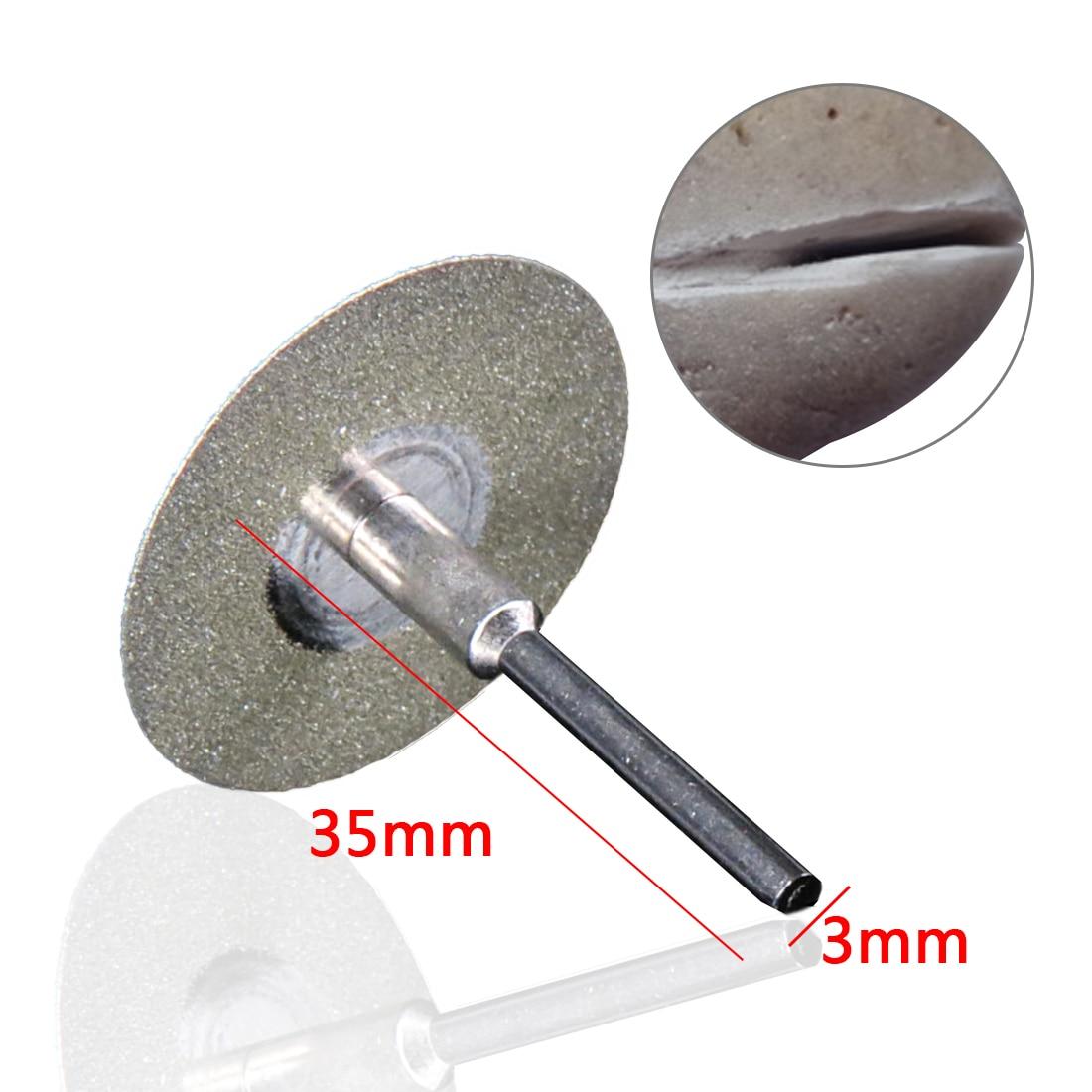 5Pcs 50mm Mini Diamond Rotary Cutting Discs Cut Off Wheel Drill Bit DIY Tool