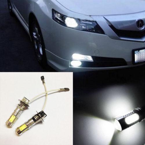 2x nagy teljesítményű Xenon fehér H3 COB LED-izzók OY-1 - Autó világítás