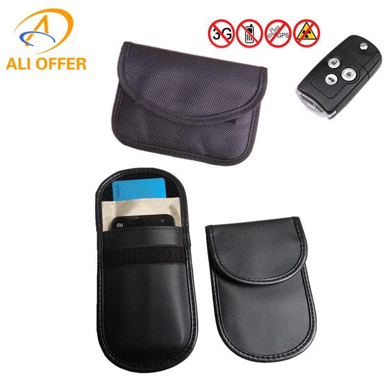 Car key signal blocker case faraday cage fob pouch keyless rfid blocking bag CPU