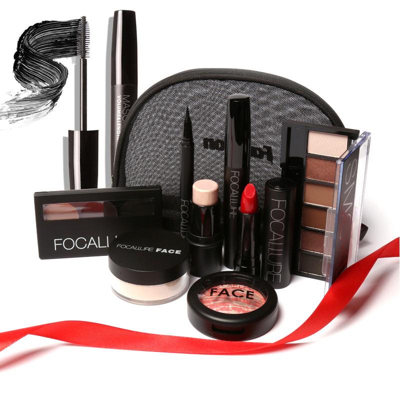 Makeup Tool Kit Lipstick Eyeshadow Mascara Blusher Highlighters Stick Eyeliner Eyebrow Powder With Bag For Women Lady Gift H7JP