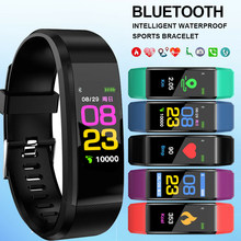 New ID115 PLUS Color Screen Bracelet Sports Watch Fitness Running Walking Tracker Fashion Children's Watches for Men Women Child(China)
