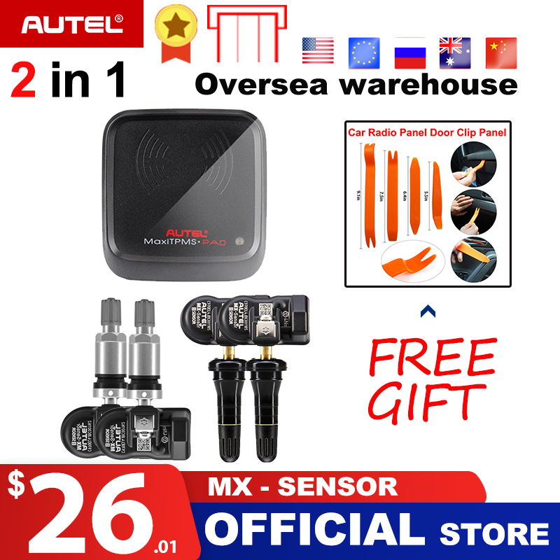 Autel MX-Sensor 2 in 1 433MHz 315MHZ TPMS MX Sensor for Autel MaxiTPMS Pad Diagnostics tool Tire Pressure Programming Monitor go-kart