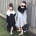 Hot Sale Spring Girls Full Sleeve Casual Dresses Kids Cotton Asymmetrical Dress Children's Clothing Autumn Girls Bottoming Shirt