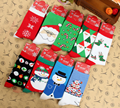 Alisister Floor Bed Socks Women's Snowflake Deer Printed Casual Cotton Socks Ladies Female Men Christmas Gift Hosiery Dropship