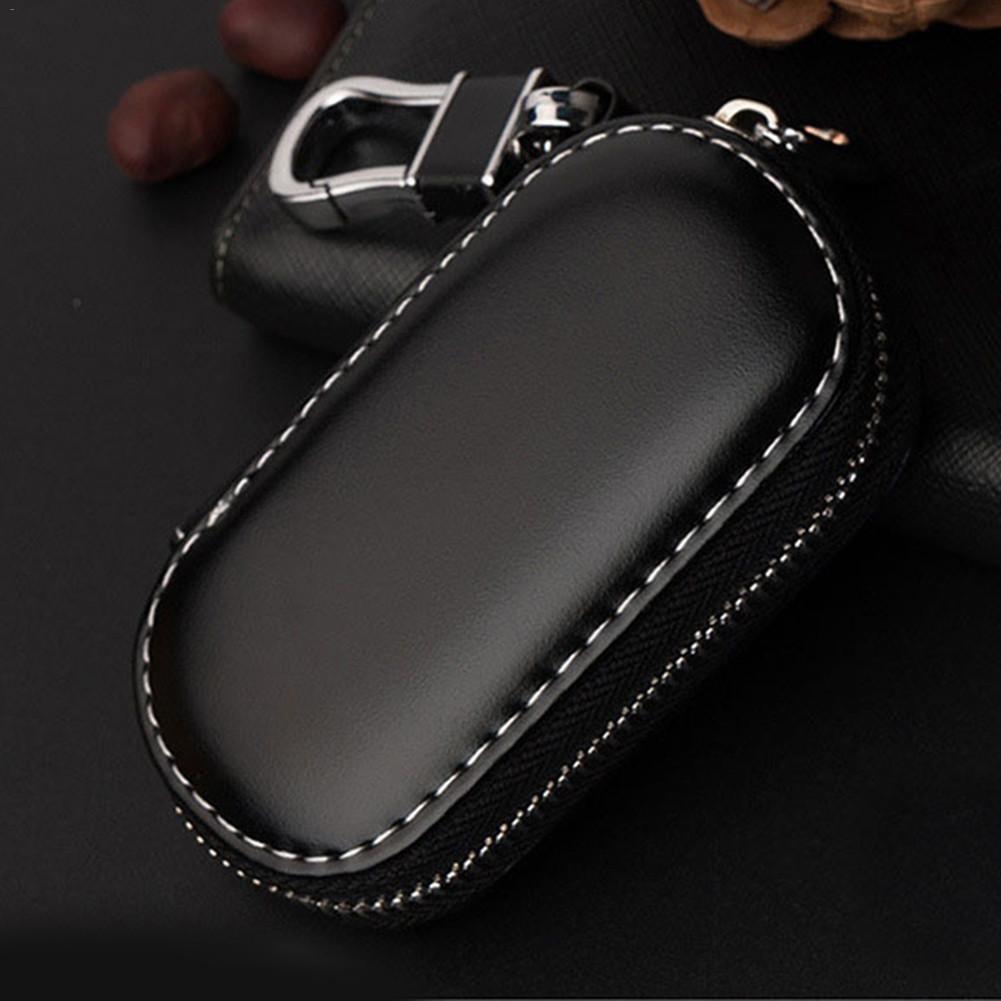Key Case Multi-function Leather Key Case Car Key Bag For Faraday Cage Keyless Entry Key Fob Pouch, Car RFID Key Security Accesso