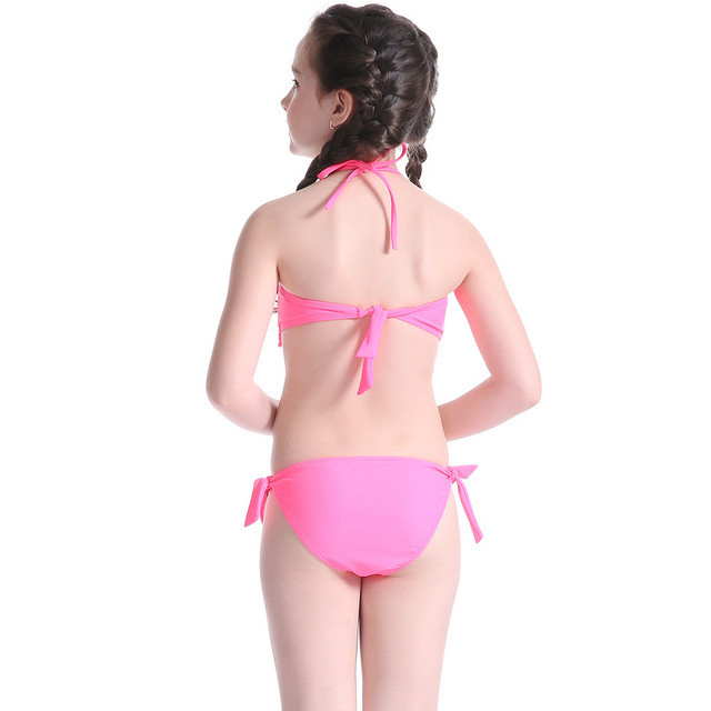 Girls Tassel Bikini Children Two Piece Swimsuit Embroidering Floral Bikinis Sets for Teenagers Kids Swimwear Beach Bathing Suit