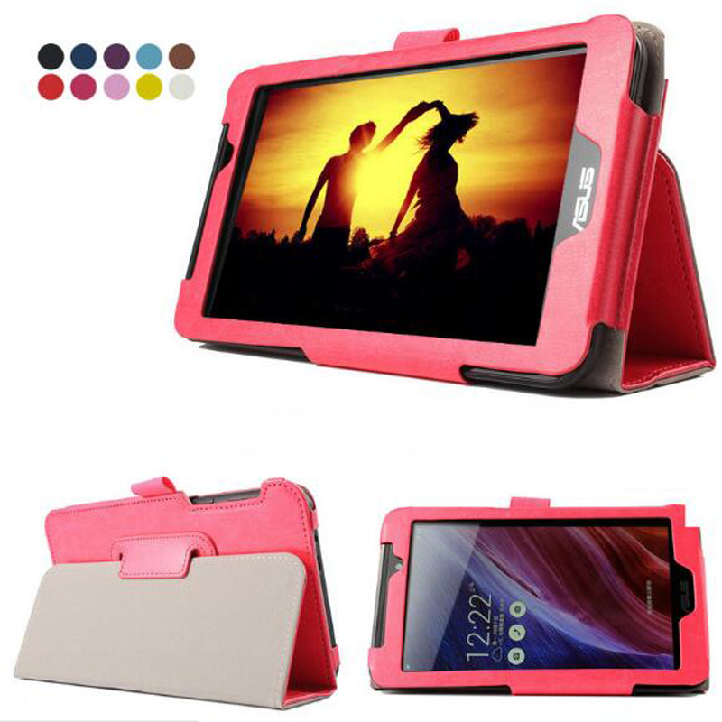 Luxury Folio Stand Crazy Horse Pattern Leather Case Smart Cover For Asus FonePad 7 FE170CG K012  MeMo Pad 7 ME70CX K01A K017 7 beautiful gitf new luxury stand case cover for asus memo pad 7 me176c me176cx tablet wholesale price jan16