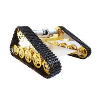 RC Metal Tank Chassis Caterpillar Walle Chassis Crawler For UNO Barrowload DIY RC Toy Tractor Obstacle Wall e