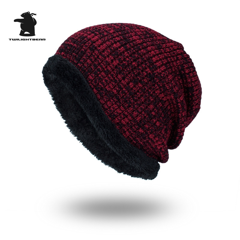 2017 New Men's Winter Hat Fashion Fleece Skiing Beanies Caps Warm Knitted Beanie Bonnet hats men Gorros Invierno Cappelli CY6E64 unisex letter dragon winter hats skullies beanies men woman beanie knitting hat knitted cap new design invierno bonnets gorros